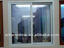 two panel pvc sliding window, elegant pvc office sliding windows