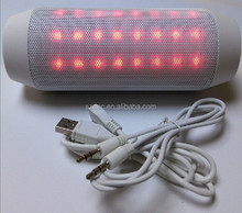 wireless bluetooth stereo mp3 speaker hanging flashing circular led lights