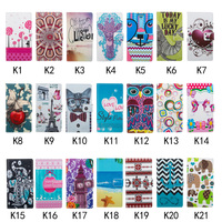 Fashion Customized Pattern Wallet Credit Card PU + TPU Flip Stand Leather Shell Case For Iphone