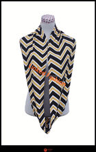 Bay's Nursing Scarf - Black and Gold Chevron - Incredible Quality, Super Soft