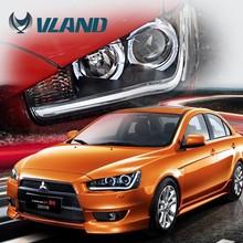 CE, Rohs, and 12V voltage China Vland ABS wholesaler Japan car accessories halogen lamp head lamp mitsubishi lancer