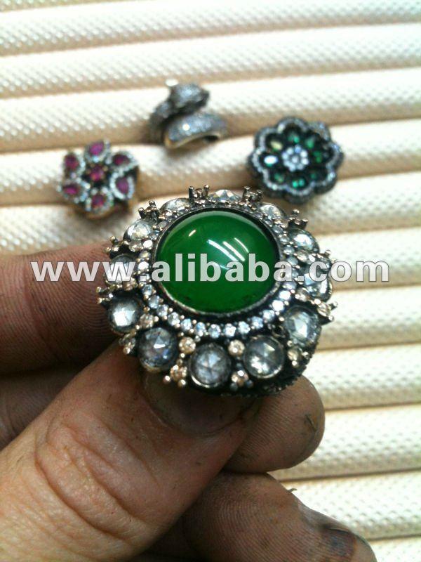 Hecho a mano en pavo 925 plata oro 9 k 4kt 6 k 8kt étnico de la joyería turca anillo del pendiente del collar otomana antiguo venta al por mayor
