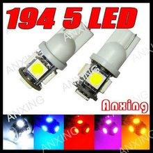 Car parts led lighting w5w t10 led light,t10 5050 5 smd auto spare part