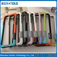 Make Bumper for Phone Bicolor silicone bumper case for iphone 5