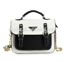 Luxury lady handbag wholesale european design fashion ladies handbag with Italian Style metal clasp closure woman purse