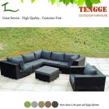 YH-6027 Outdoor furniture waterproof rattan sectional sofa set