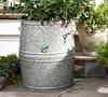 Big size galvanized iron home decor giant garden pots