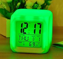 Factory price LED light alarm clock, flip calendar clock