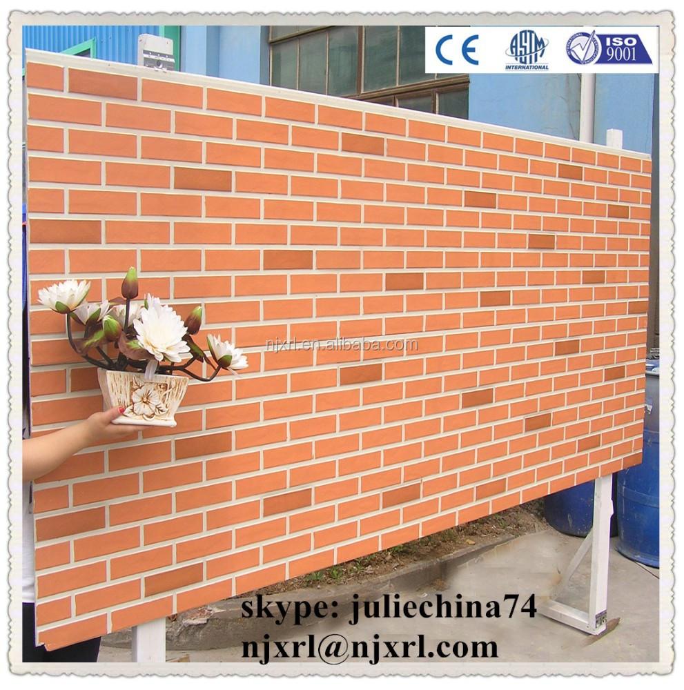 exterior building facade faux brick panel brick wall