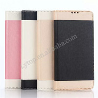 Fast Delivery Hybrid silk pattern Leather Cover for Samsung Galaxy Note 5 Wallet Case with Card Slot