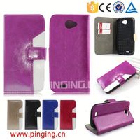 High-end mixed colors oiled pu leather case for Nec N-05D,Flip Cover Case for Nec N-05D