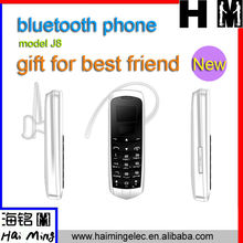 top selling high quality lovely phone with bt function 0.66 inch portable model J8