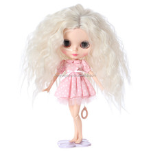 new arrival long blonde afro curly blythe doll wig for wholesale