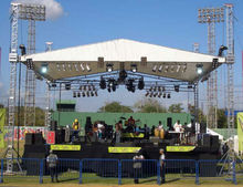 double pitch roof system for outdoor event