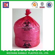 wholesale Plastic Biohazard Garbage Bag for Medicine Waste