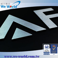 Customized self adhesive aluminum small metal alphabet letters