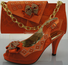 factory direct supply promotional african bag and shoe set italian shoes wholesale