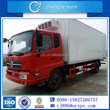 RHD or LHD 6-8tons dongfeng refrigerated cargo van for vaccine and drug
