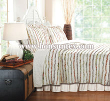 Factory brand new design cotton/polyester quilted bedspread/comforter