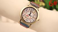 Alibaba trade assurance supplier Women Dress Fabric Band Quartz Elegance textile strap Bohemian style Watch