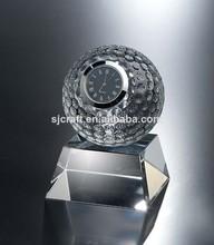 reloj de escritorio de negocios para souvenirs pisapapeles para decoración de la oficina, regalo de cristal pisapapeles