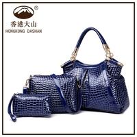 ASN8866 HKDASHAN 2015 new design traveling satchel bag 3 in 1 handbag