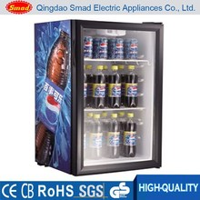 SC98 glass door display Minibar refrigerator with CE ETL RoHS SAA