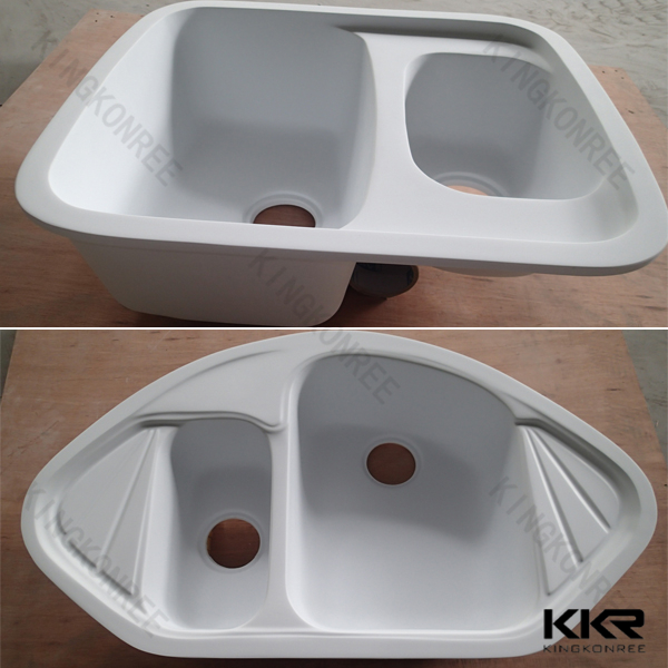 Triangle Sink : Factory price undermount solid surface triangle kitchen sink