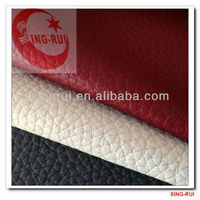 sofa materials pu leather with flock backing