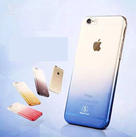 Best Selling Gradient Color Crystal Clear Hard PC Ultra Thin Back Cover Cell Phone Cases for Iphone 6 6plus 6s