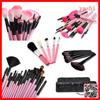 Alibaba 24pcs superior Professional Soft Cosmetic Makeup Brush Set PINK