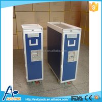 Customed aviopack aluminum alloy service trolley with four wheels