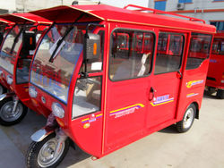 Motorized power tricycle/rickshaw for passenger