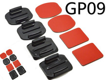 2015 Promotional GP09 2x Flat Mounts & 2x Curved Mounts with adhesive pads for GoPros Heros 3+/3/2/1