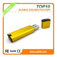 large storage golden metal U memory disk, cheap U memory disk, grade A pendrive