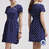 Guangzhou manufacturing factory direct latest designe casual polka dot summer dresses for women