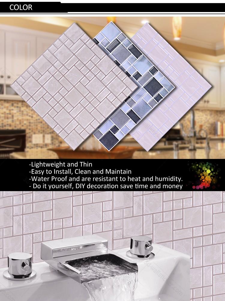 Bricolage auto adh sif 3d gel mosa que carrelage mural - Carrelage mural auto adhesif ...
