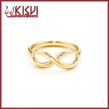 handmade double infinity ring Genuine 925 Sterling Silver Ring , Lateset Design Wholesale Silver Jewelry