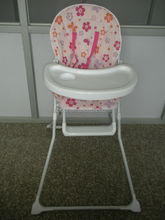White plastic baby dining high chairs
