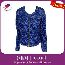 Nuevo estilo abrigo azul de mujeres