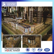 Costom architectural model with plastic building materials