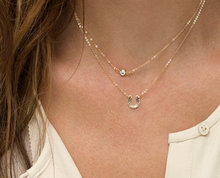Tiny Horsehoe Necklace Delicate Chain Rose Gold Fill or Sterling Silver Dainty Horseshoe Necklace
