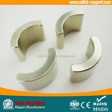 Arc and segment magnet neodymium for hot sale