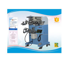 Semi-automatic rotary silk screen printing machine for colorful flexible plastic tubes with high resolution