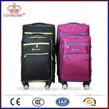 078#Soft fabric eva 1200D 600D material nylon suitcase trolley case luggage with fashion design