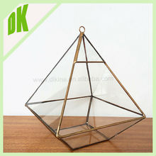 *A set of modern, geometric vases for your home, office or use as centerpieces at your wedding *** hanging geometric glass ware