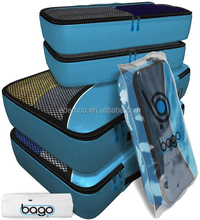 4 Set Bago Packing Cubes - Travel Organizers with Laundry Bag