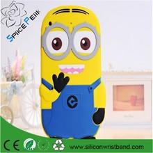 3D Cute Cartoon New arrival Despicable Me 2 Minion 3D Soft Silicone cover CaseFor Apple ipad mini 3 mini 2 mini1 Rubber case