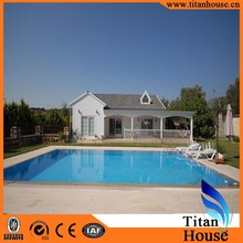 China Cheap Ready Made House Designs With Swimming Pool