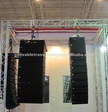 indoor exhibition truss stand, speaker truss, speaker and lighting truss